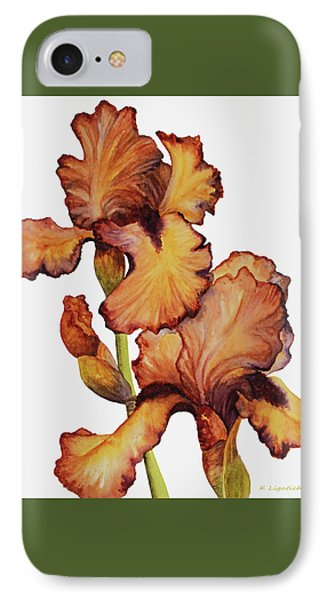 Golden Iris IPhone Case