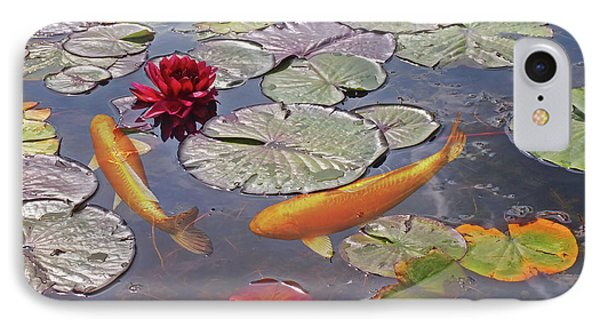 Golden Koi Pond IPhone Case