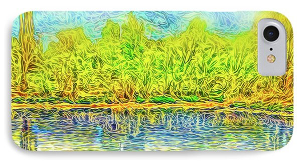 Golden Lake Reflections IPhone Case by Joel Bruce Wallach