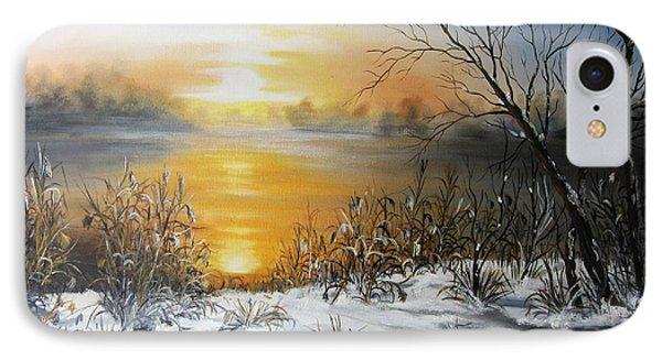 Golden Lake Sunrise  IPhone Case by Vesna Martinjak