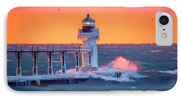 Golden Light At The Lighthouse IPhone Case by Jackie Novak