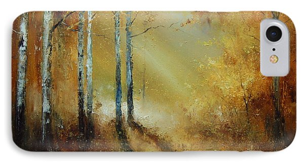 Golden Light In Autumn Woods IPhone Case