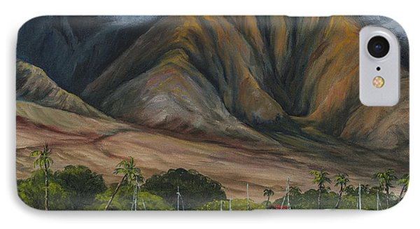 IPhone Case featuring the painting Golden Light West Maui  by Darice Machel McGuire