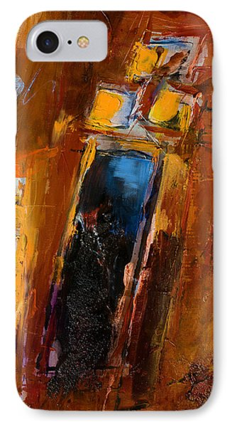 IPhone Case featuring the painting Golden Lights by Elise Palmigiani