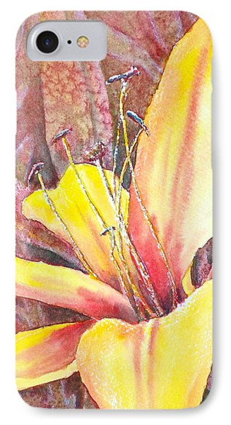 IPhone Case featuring the photograph Golden Lily by Carolyn Rosenberger