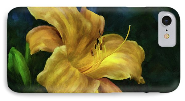 Golden Lily IPhone Case by Lois Bryan