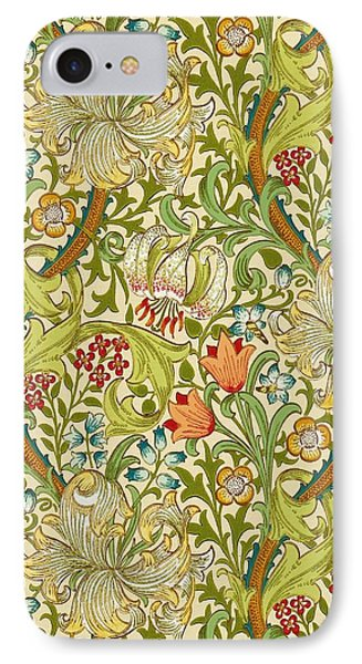 Golden Lily IPhone Case by William Morris