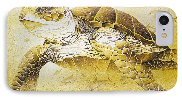 Golden Loggerhead IPhone Case by William Love