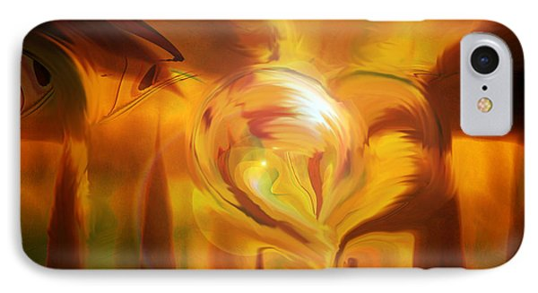 IPhone Case featuring the digital art Golden Love by Linda Sannuti