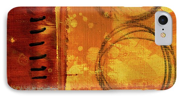 IPhone Case featuring the painting Golden Marks 10 by Nancy Merkle