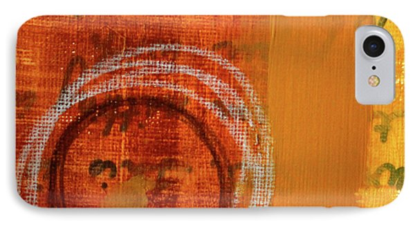 IPhone Case featuring the painting Golden Marks 11 by Nancy Merkle