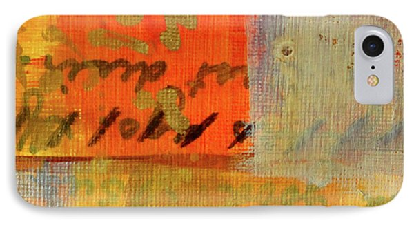 IPhone Case featuring the painting Golden Marks 12 by Nancy Merkle