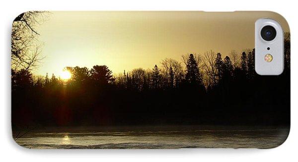 IPhone Case featuring the photograph Golden Mississippi River Sunrise by Kent Lorentzen