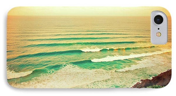 Golden Morning Swell IPhone Case by Az Jackson