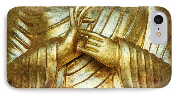 Golden Mudra IPhone Case by Tim Gainey