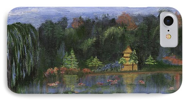 IPhone Case featuring the painting Golden Pagoda by Jamie Frier