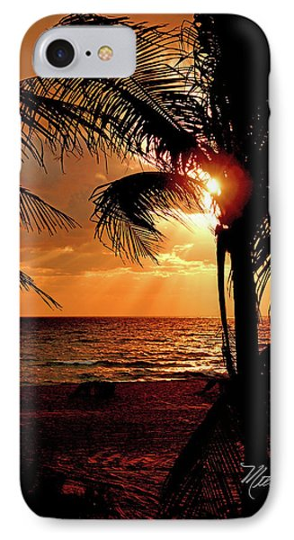 Golden Palm Sunrise IPhone Case