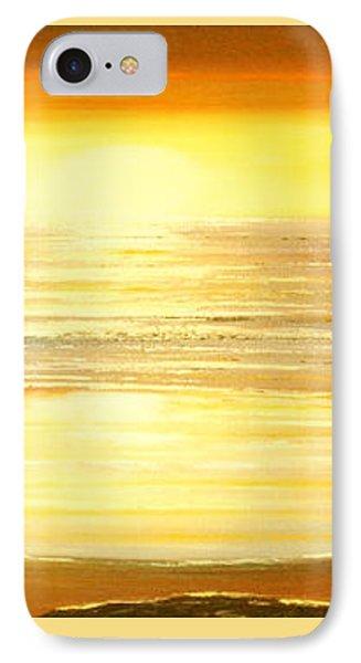 Golden Panoramic Sunset Phone Case by Gina De Gorna