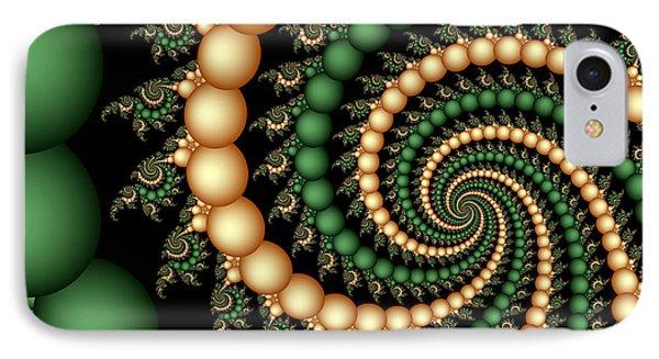 Golden Pearls Phone Case by Sandra Bauser Digital Art