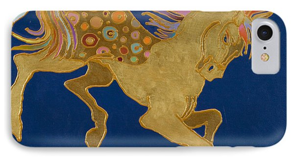IPhone Case featuring the painting Golden Pegasus by Bob Coonts