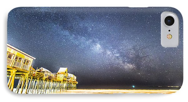 Golden Pier Under The Milky Way Version 1.0 IPhone Case by Patrick Fennell