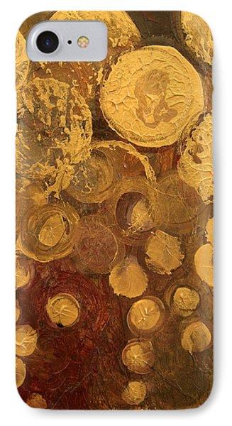 Golden Rain Abstract IPhone Case by Kristen Abrahamson
