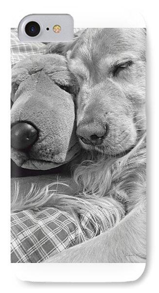 Golden Retriever Dog And Friend Phone Case by Jennie Marie Schell