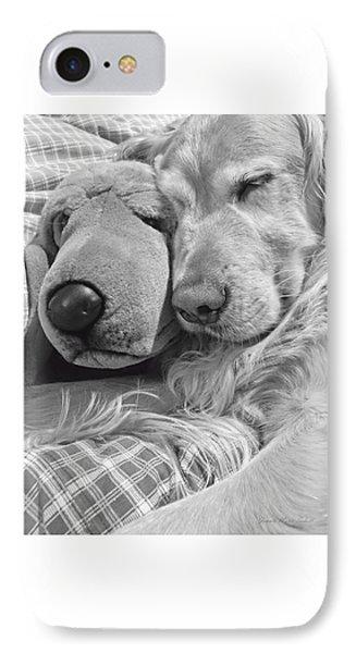 Golden Retriever Dog And Friend IPhone Case by Jennie Marie Schell