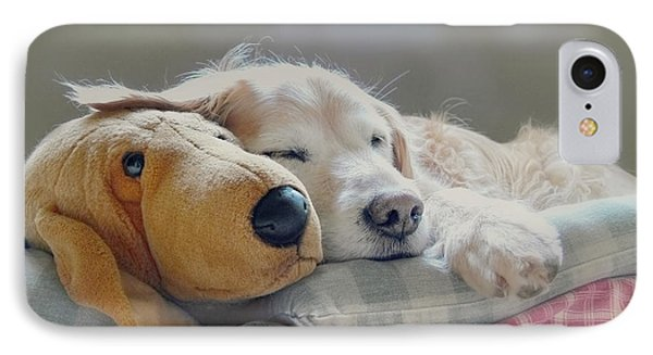 Golden Retriever Dog Sleeping With My Friend IPhone Case