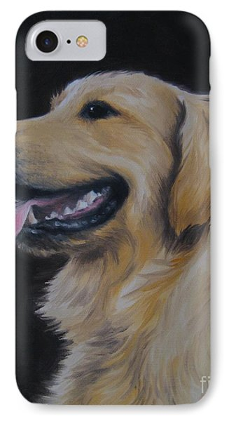 IPhone Case featuring the painting Golden Retriever Nr. 3 by Jindra Noewi