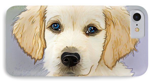 Golden Retriever Puppy IPhone Case by EricaMaxine Price