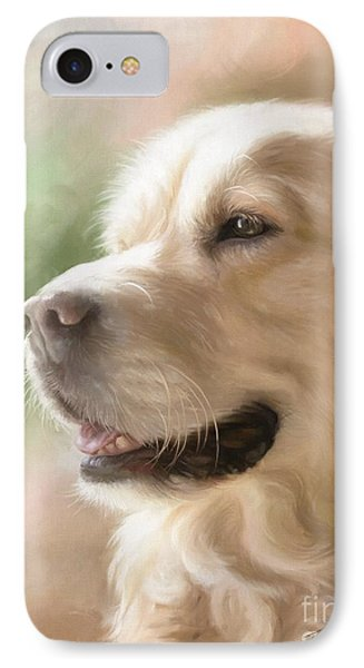 Golden Retriever IPhone Case by Tobiasz Stefaniak