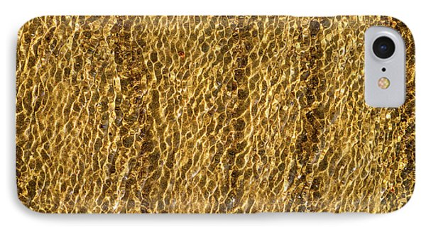 Golden Ripples IPhone Case by Wim Lanclus