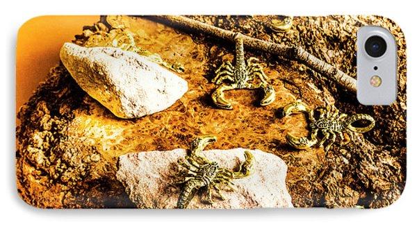 Golden Scorpion Amulets IPhone Case