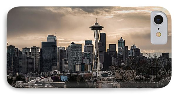 Golden Sky Seattle Phone Case by Chris McKenna