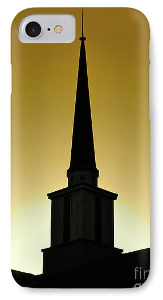 IPhone Case featuring the photograph Golden Sky Steeple by CML Brown