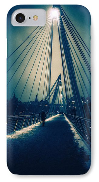 Golden Snow IPhone Case by Lenny Carter
