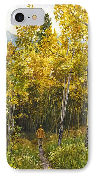 IPhone Case featuring the painting Golden Solitude by Anne Gifford