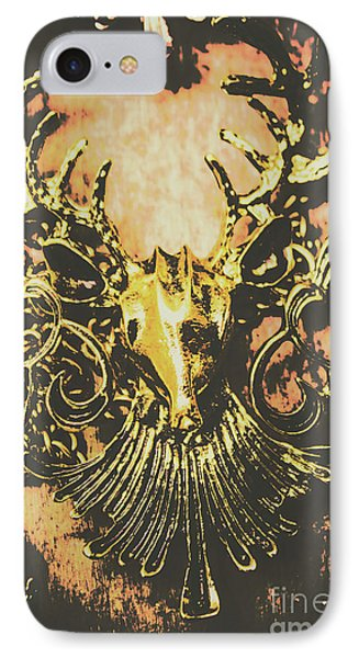Golden Stag IPhone Case by Jorgo Photography - Wall Art Gallery
