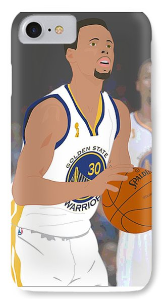 Golden State Warriors - Stephen Curry - 2015 IPhone Case by Troy Arthur Graphics