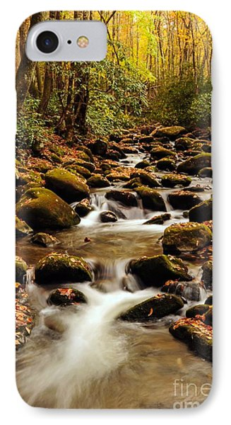 IPhone Case featuring the photograph Golden Stream In The Great Smoky Mountains by Debbie Green