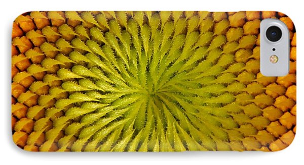 IPhone Case featuring the photograph Golden Sunflower Eye by Chris Berry