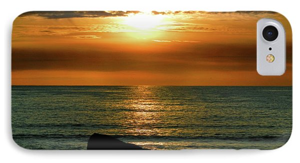 IPhone Case featuring the photograph Golden Sunset At The Beach IIi by Mariola Bitner