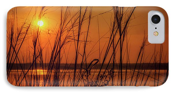 Golden Sunset At The Lake IPhone Case by John Williams