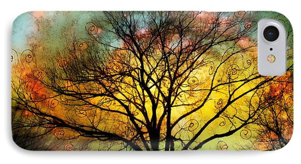Golden Sunset Treescape IPhone Case by Barbara Chichester