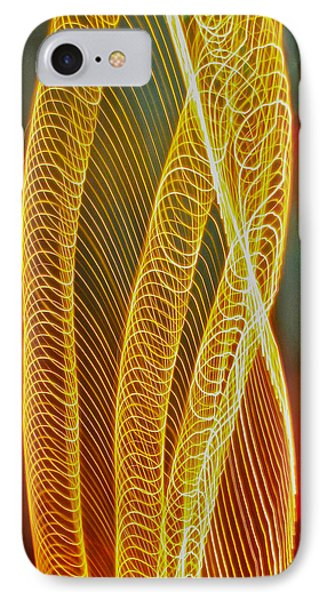 IPhone Case featuring the photograph Golden Swirl Abstract by Sean Griffin