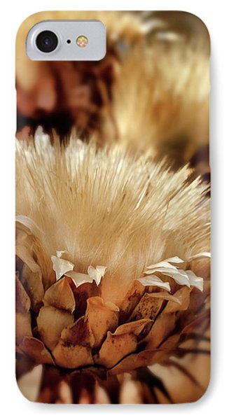 IPhone Case featuring the digital art Golden Thistle II by Bill Gallagher