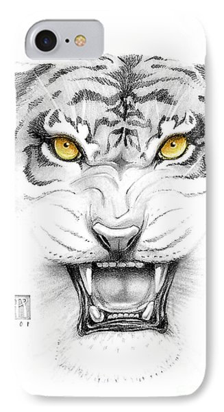 Golden Tiger Eyes Phone Case by Melissa A Benson