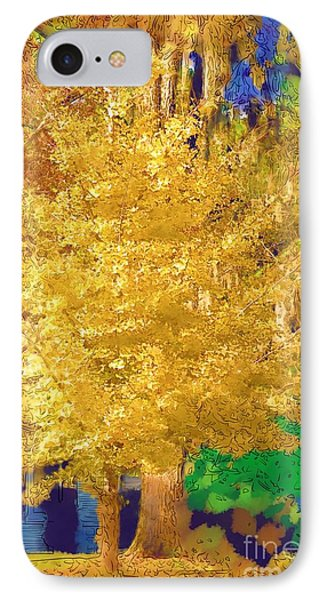 IPhone Case featuring the photograph Golden Tree by Donna Bentley