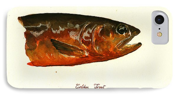 Golden Trout  IPhone Case by Juan  Bosco